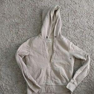 J. Crew Tan Sherpa Fleece Zip-up Hoodie